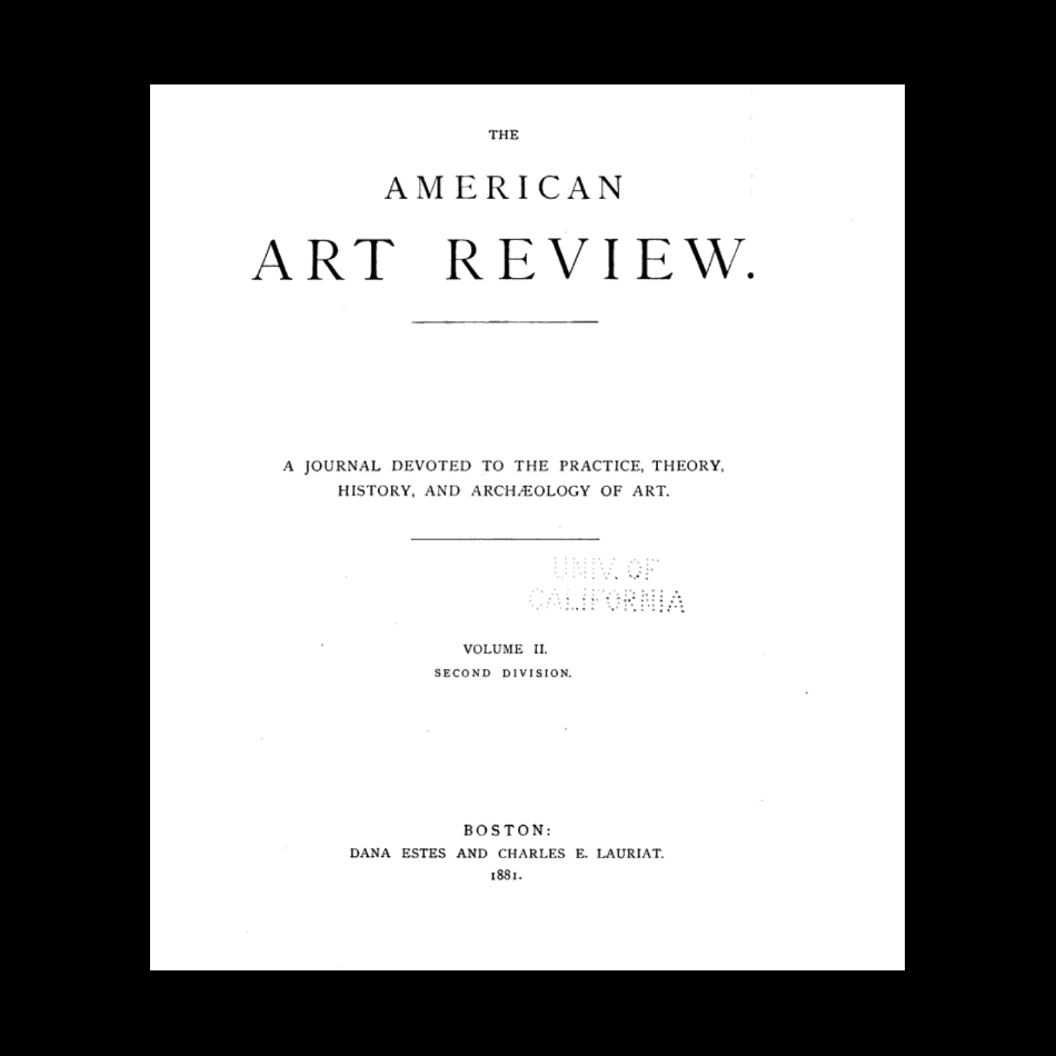 The American art review.